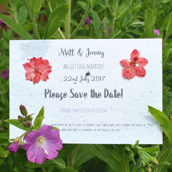 Seed paper save the date