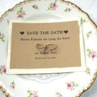 Tie the knot recycled save the date notification