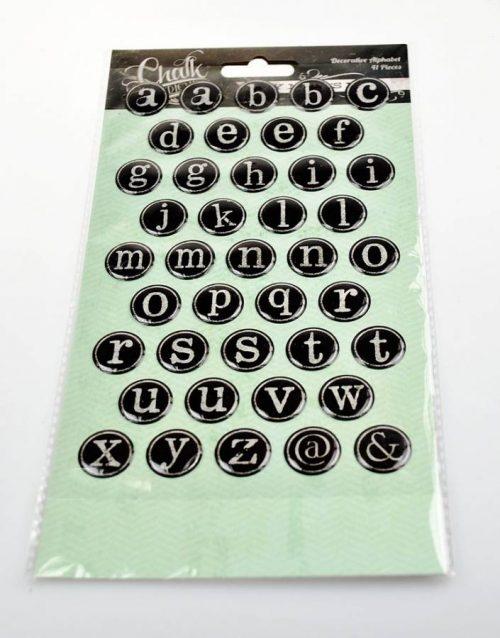 Chalk Studio chalkboard alphabet stickers