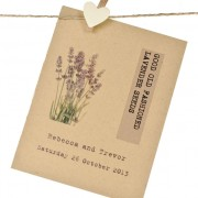 Lavender wedding favour seed packet