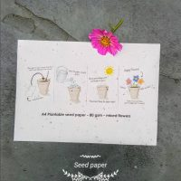 Plantable seed paper 80 gsm