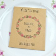 Wildly in Love seed wedding favour