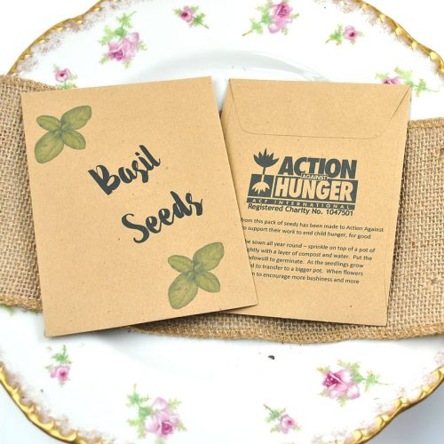 Action Against Hunger charity wedding favour