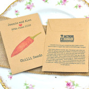 Action for Hunger charity seed packet wedding favour