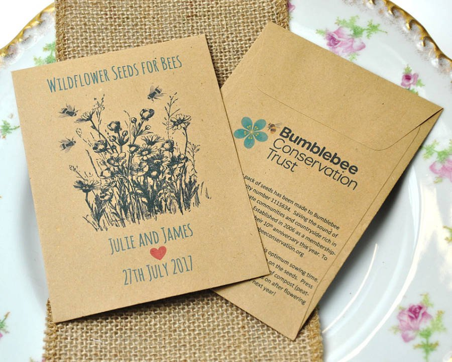 vintage eco friendly wedding favours wildflower favours