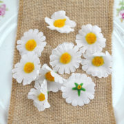 Fabric daisies, perfect for crafts
