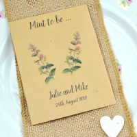 Catmint seeds wedding favour seed packet, Mint to be