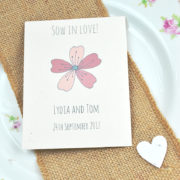 Sow in love recycled seed packet wedding favour