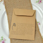Autumn wedding favour seed packet sowing instructions for Ox-eye Daisy seeds