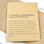 Sowing instructions for butterflies and bees seed packet weddinig favour