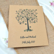 Tree Aid charity wedding favour seed packet