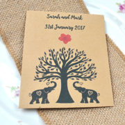 Elephant Family charity wedding favour seed packet
