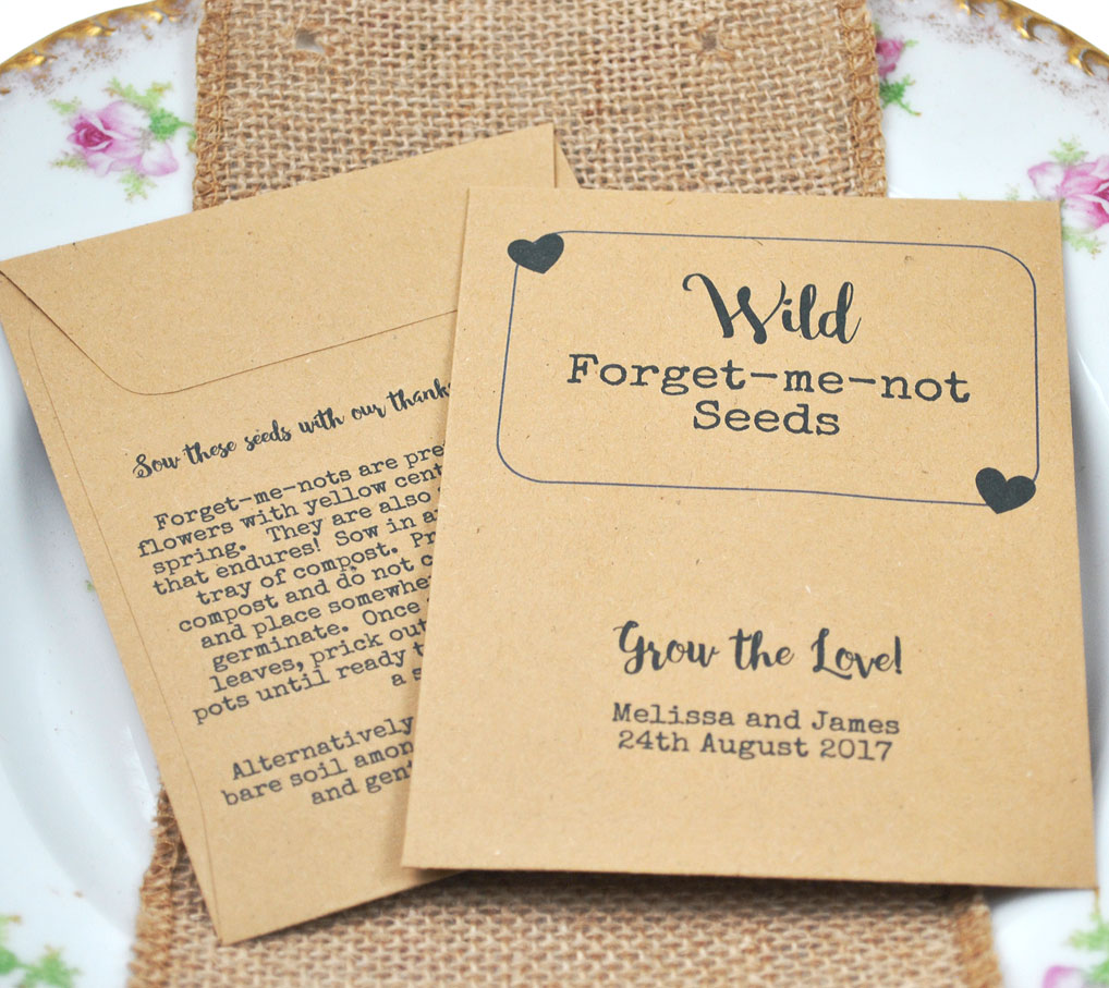 Wild Forget-me-not seeds wedding favour