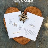 Seed paper Christmas cards - Christmas baubles