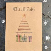 Christmas tree seed packet christmas card