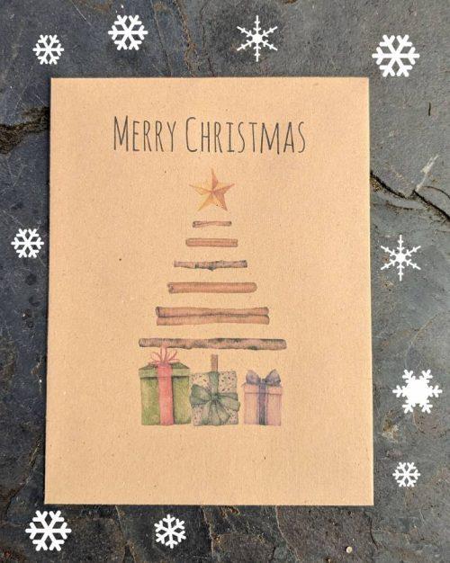 Christmas tree seed packet christmas card