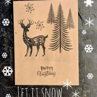 Deer seed packet Christmas card