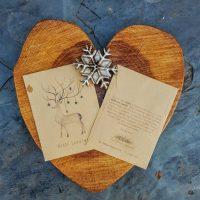 Alternative Christmas card - reindeer and baubles