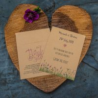 Meadow seeds wedding favour