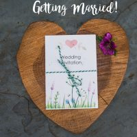 Meadow seed packet wedding invite set