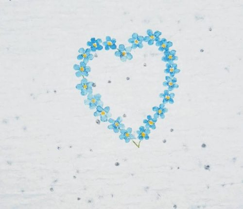 Printable Forget-me-not seed paper