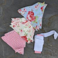 DIY fabric bunting kit