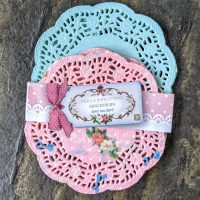 Talking Tables Frills and Frosting mini colourful doilies