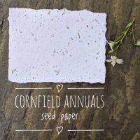 Cornfield wildflowers seed paper