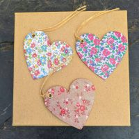 Vintage-style heart gift tags