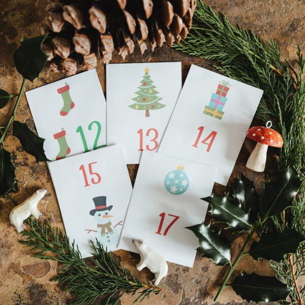 Kids seed packet advent calendar