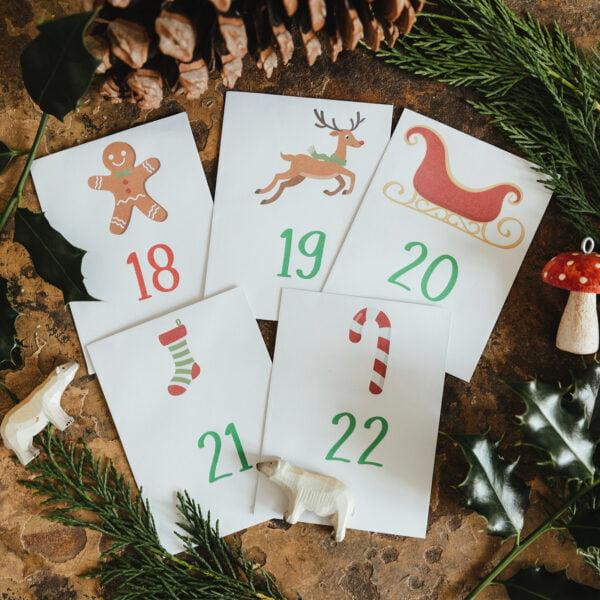 Kids advent calendar seed packets
