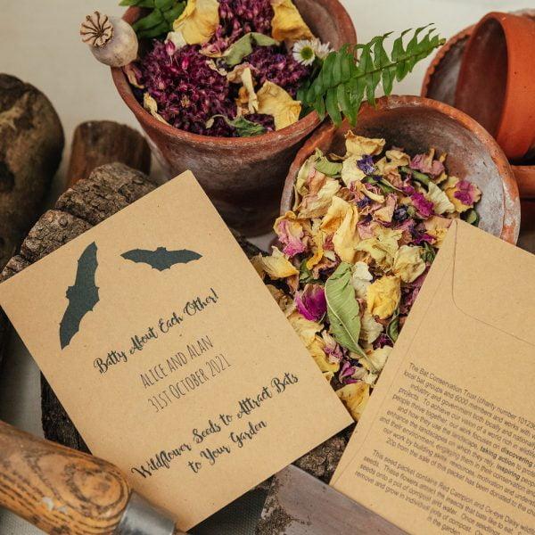 Bat Conservation Trust seed paket wedding favour