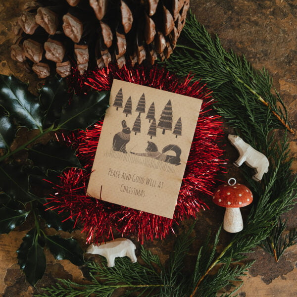 Seed packet Chrismtas cards - fox and hare