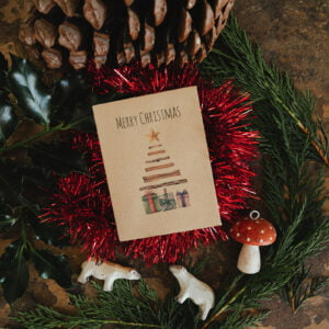 Christmas tree seed packet Christmas cards
