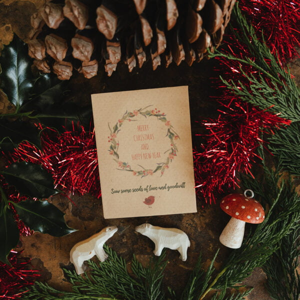 Christmas wreath seed packet