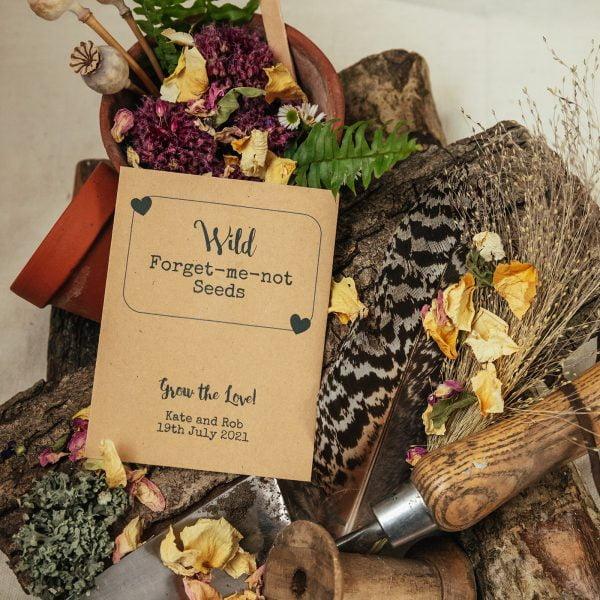 Forget-me-not seeds vintage wedding favour