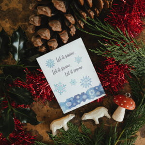 Let It Snow seed packet alternative Christmas card