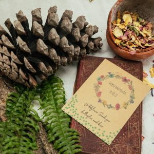 Meadow wreath seed packet wedding favour