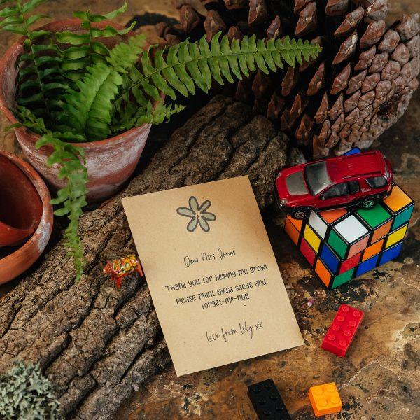 Teacher seed packet gift