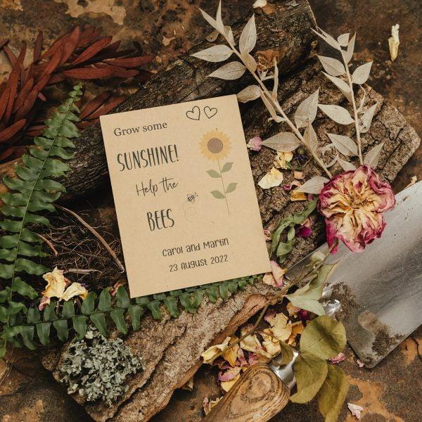 Grow some sunshine sunflower seed packet