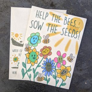 Help the bees wildflower seed packet