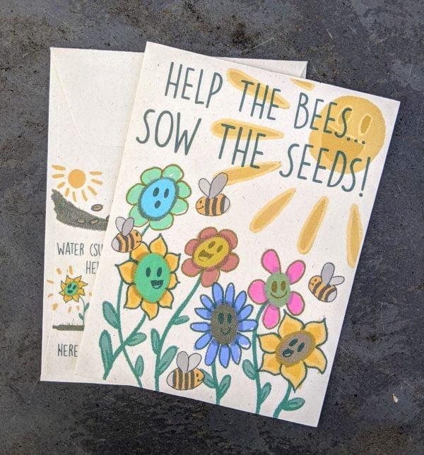 Help the bees wildflower seed packet
