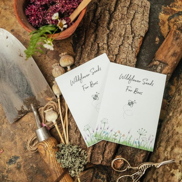 Wildflower seeds for bees white