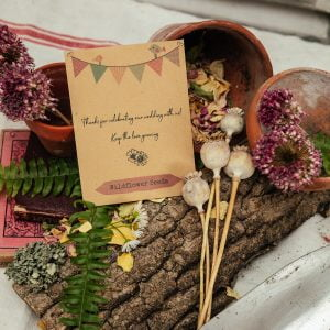 Bunting seed packet wedding favour