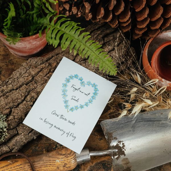 Forget-me-not seeds memorial gift