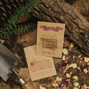 Rustic seed packet wedding favour manilla