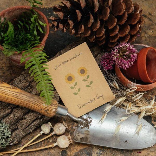 Sunflower seeds memorial gift