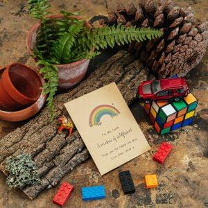 Teacher rainbow seed packet