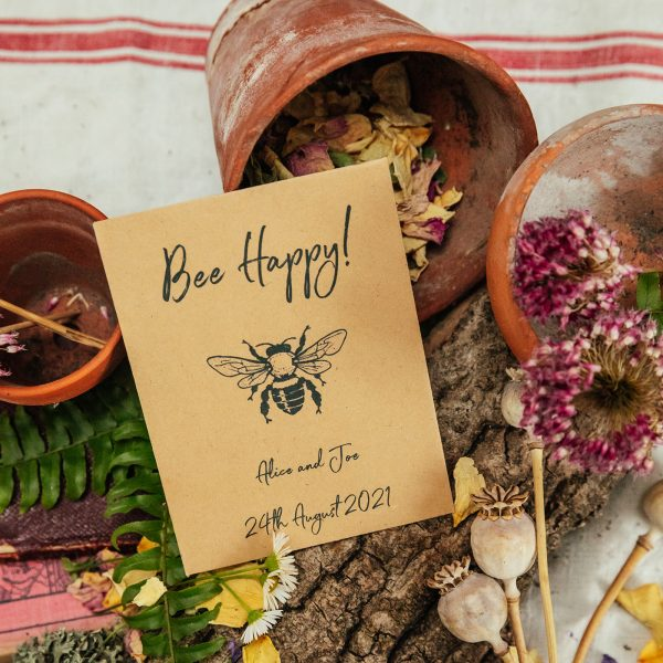 Bee happy seed packet
