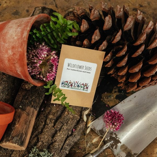 Cute wildflower seed packet